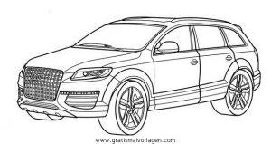 Audi Q7 Gratis Malvorlage In Autos2 Transportmittel Ausmalen