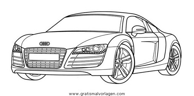 Audi r8 gratis malvorlage in autos2 transportmittel for Audi r8 coloring pages
