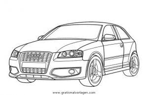 Audi S3 Gratis Malvorlage In Autos2 Transportmittel Ausmalen