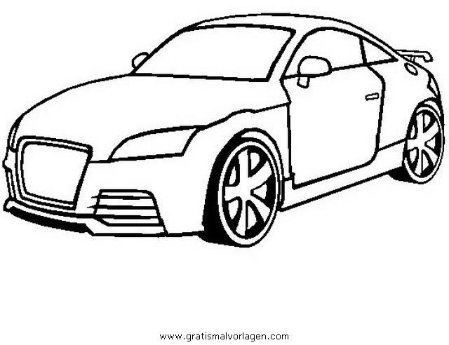 Audi Tt Gratis Malvorlage In Autos2 Transportmittel Ausmalen