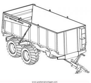 autoanhanger 1 gratis malvorlage in lastwagen, transportmittel - ausmalen