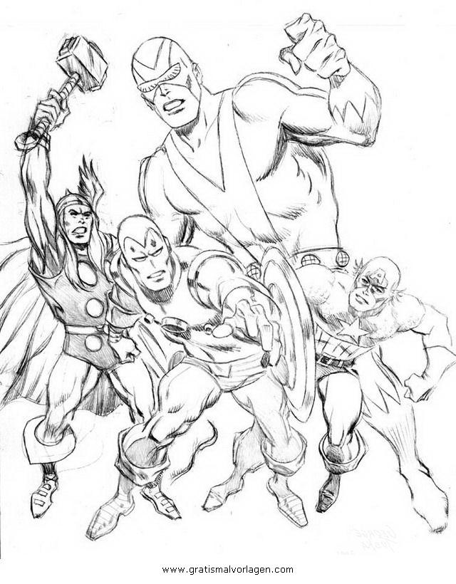 Avengers Ausmalbilder Zum Drucken: Avengers 00 Gratis Malvorlage In Avengers, Comic
