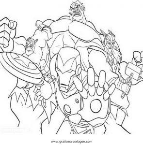 Avengers 07 Gratis Malvorlage In Avengers Comic Trickfilmfiguren