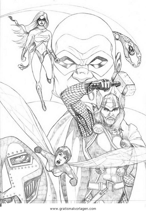 avengers 08 gratis malvorlage in avengers comic