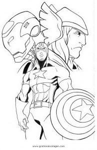 Avengers 10 Gratis Malvorlage In Avengers Comic Trickfilmfiguren