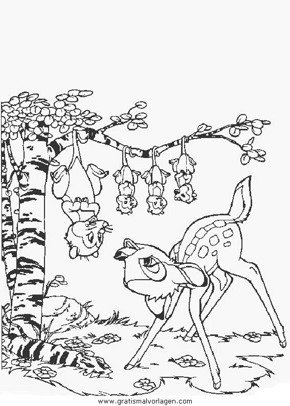 bambi20 gratis malvorlage in bambi comic