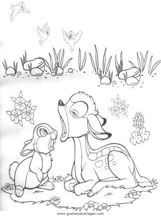 bambi36 gratis malvorlage in bambi comic