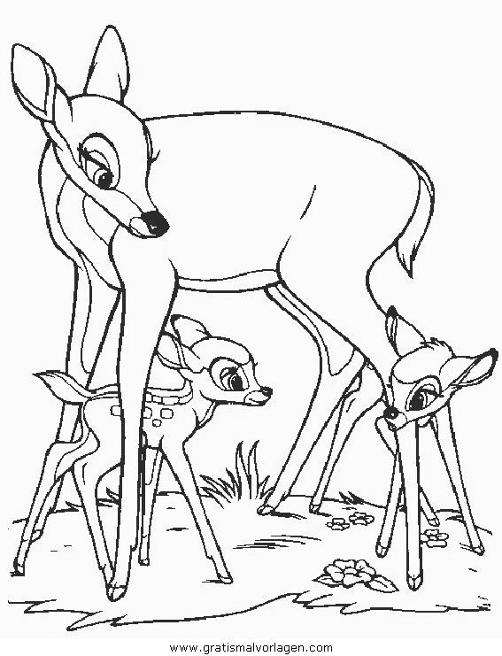 bambi60 gratis malvorlage in bambi comic