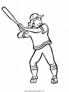 Malvorlage Baseball baseball 16