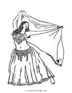 Bauchtanz Belly Dancer 8 Gratis Malvorlage In Sport Tanz Ausmalen