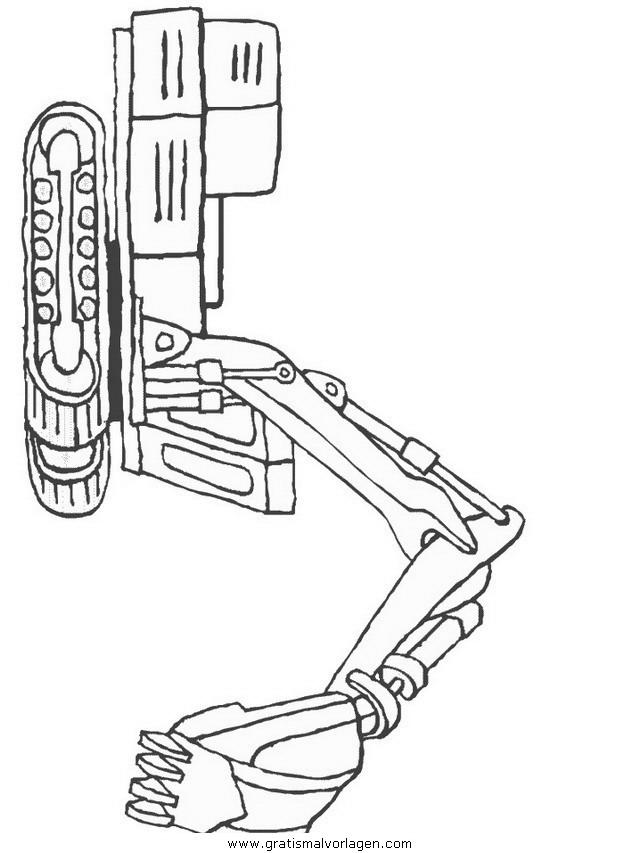 Baumaschinen 10 Gratis Malvorlage In Baumaschinen