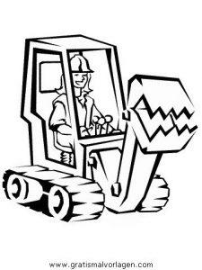 Baumaschinen 18 Gratis Malvorlage In Baumaschinen Transportmittel