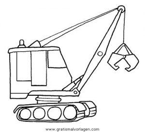 Baumaschinen 23 Gratis Malvorlage In Baumaschinen Transportmittel