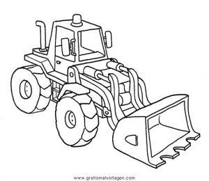 baumaschinen 37 gratis Malvorlage in Baumaschinen, Transportmittel