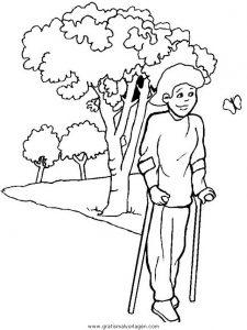 Malvorlage Behinderte Menschen behinderte menschen 07