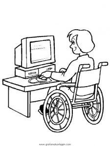 Malvorlage Behinderte Menschen behinderte menschen 14