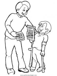 Malvorlage Behinderte Menschen behinderte menschen 21