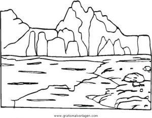 malvorlagen landschaften berge   coloring and malvorlagan