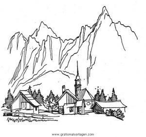Berg Berge Bergen 05 Gratis Malvorlage In Diverse Malvorlagen