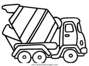 Betonmischer 2 Gratis Malvorlage In Baumaschinen Transportmittel