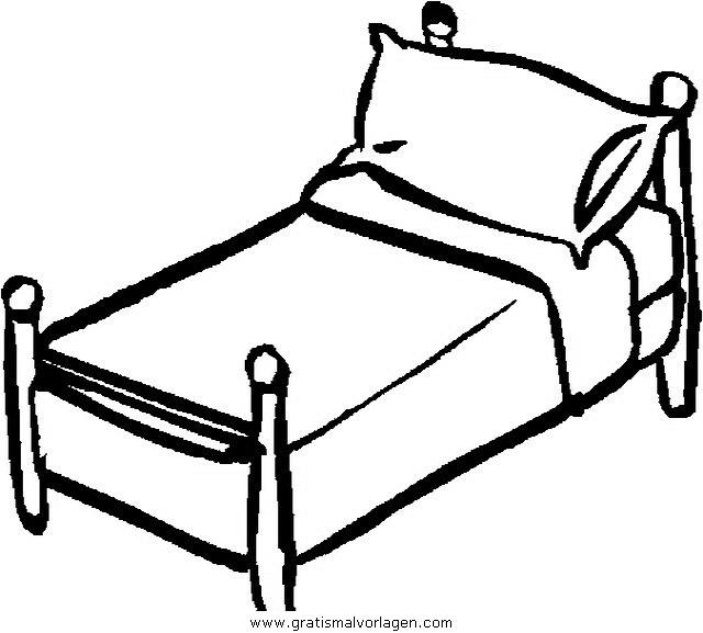 Betten 02 Gratis Malvorlage In Betten Diverse Malvorlagen Ausmalen