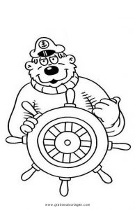 Blaubar 5 Gratis Malvorlage In Comic Trickfilmfiguren Kapt N