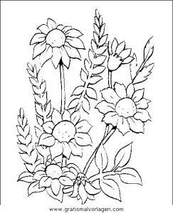 Blumen 290 Gratis Malvorlage In Blumen Natur Ausmalen