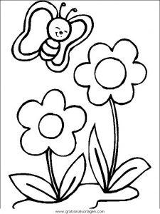 Blumen 340 Gratis Malvorlage In Blumen Natur Ausmalen