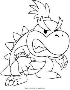Bowser 6 Gratis Malvorlage In Comic Trickfilmfiguren Mario Ausmalen