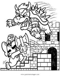 Bowser 7 Gratis Malvorlage In Comic Trickfilmfiguren Mario Ausmalen