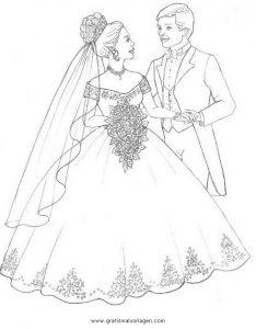 Brautpaar 19 Gratis Malvorlage In Beliebt04 Diverse Malvorlagen
