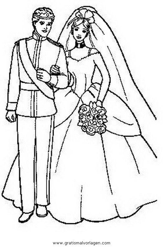Brautpaar 22 Gratis Malvorlage In Beliebt04 Diverse Malvorlagen