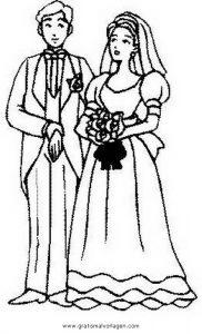 Brautpaar 22 Gratis Malvorlage In Beliebt04 Diverse