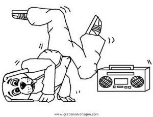 Malvorlage Tanz breakdance 11