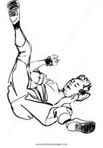 Malvorlage Tanz breakdance 2