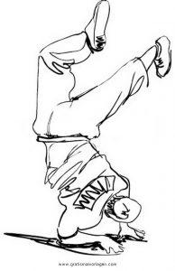 Malvorlage Tanz breakdance 4