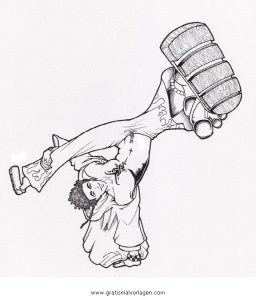 Malvorlage Tanz breakdance 5