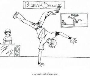 Malvorlage Tanz breakdance 8