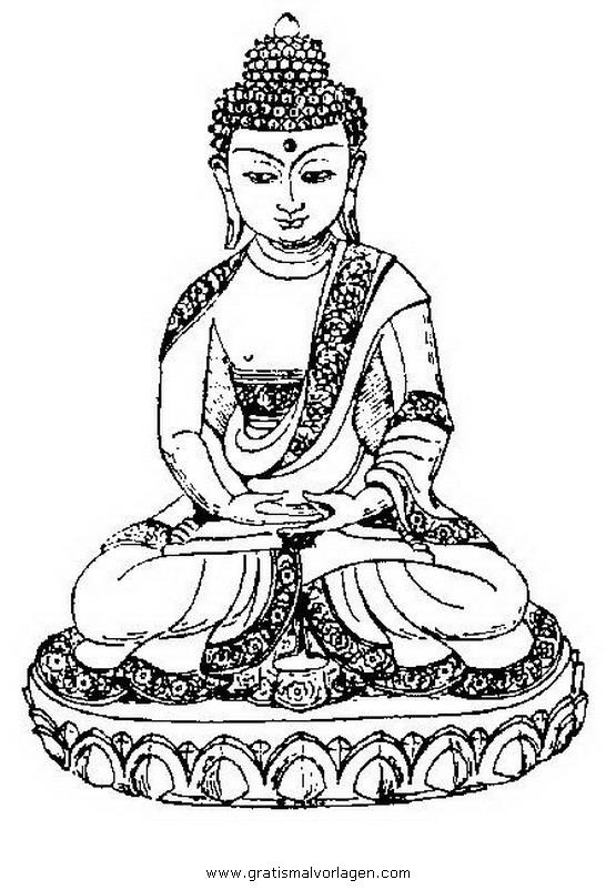 buddha 02 gratis Malvorlage in Buddha, Religionen - ausmalen