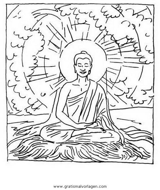 buddha 06 gratis malvorlage in buddha religionen  ausmalen