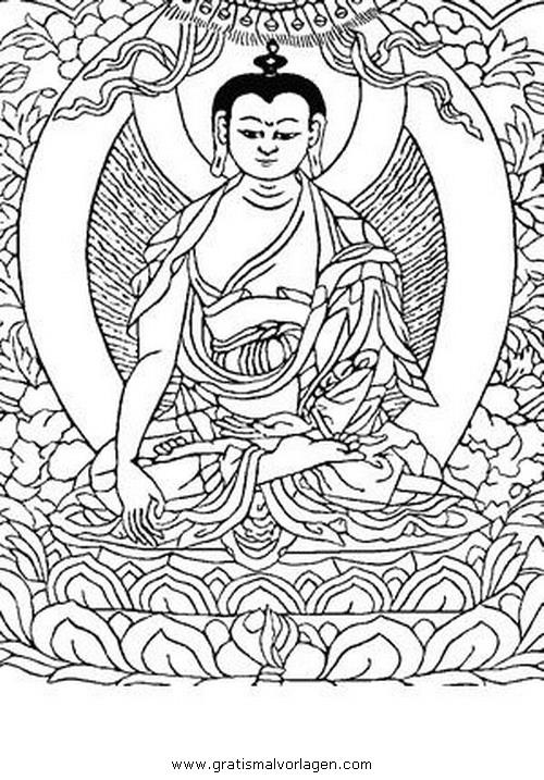 buddha 09 gratis malvorlage in buddha religionen  ausmalen