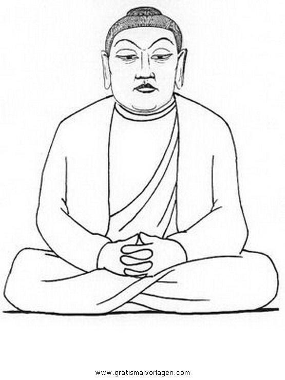 buddha 11 gratis malvorlage in buddha religionen  ausmalen