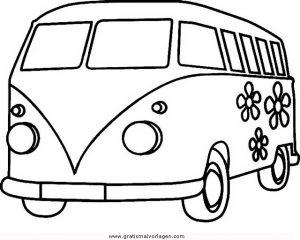 bulli 3 gratis malvorlage in autos, transportmittel - ausmalen