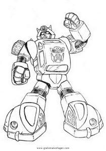 Bumblebee 2 Gratis Malvorlage In Comic Trickfilmfiguren