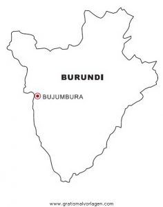 Malvorlage Landkarten Landkarte Burundi