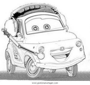 cars2 luigi gratis malvorlage in cars, comic  trickfilmfiguren - ausmalen
