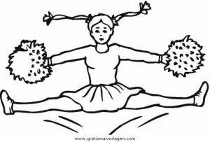 Malvorlage Tanz cheerleader 4