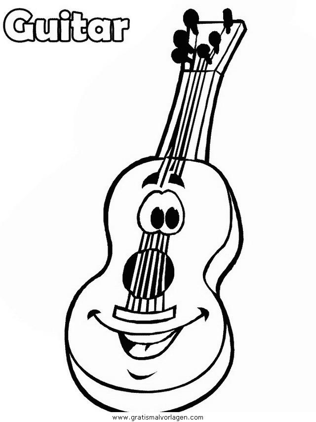 gitarre 23 gratis malvorlage in diverse malvorlagen musik