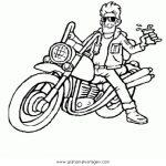 Motorrad Malvorlagen Zum Ausmalen Für Kinder