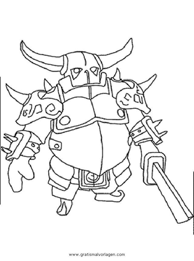 Clashofclans Pekka 001 Gratis Malvorlage In Clash Of Clans Comic